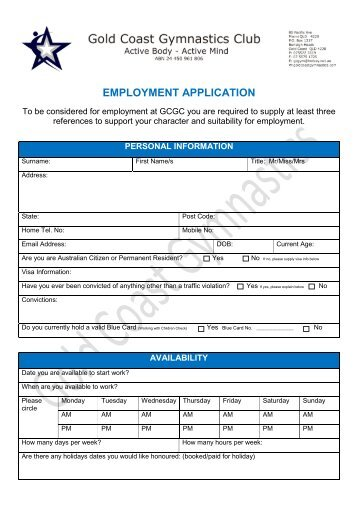 home health care employment application