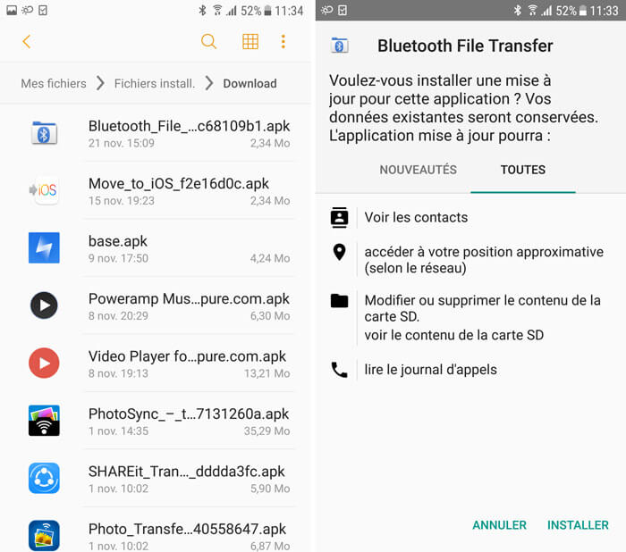 installer les applications android sur pc