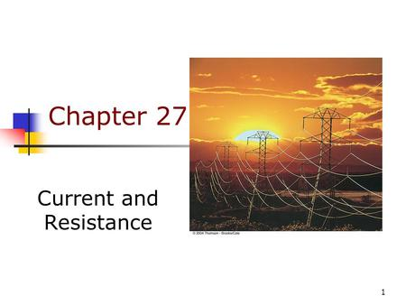 what are some applications of electric current