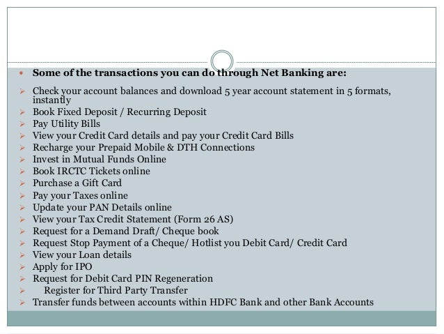 online ipo application hdfc bank