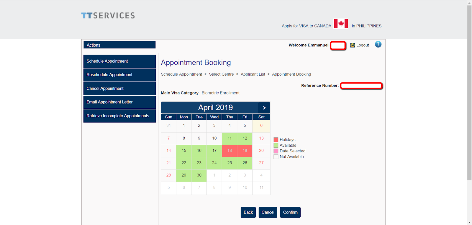 schedule 1 application for temporary resident visa