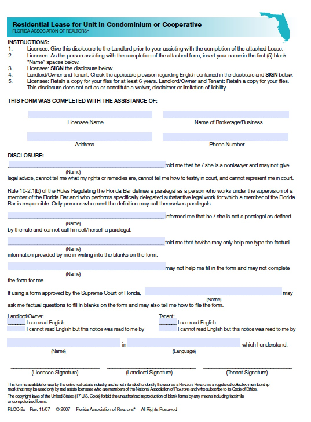 basic rental application template word