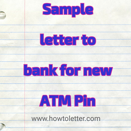 application for issuing new atm card