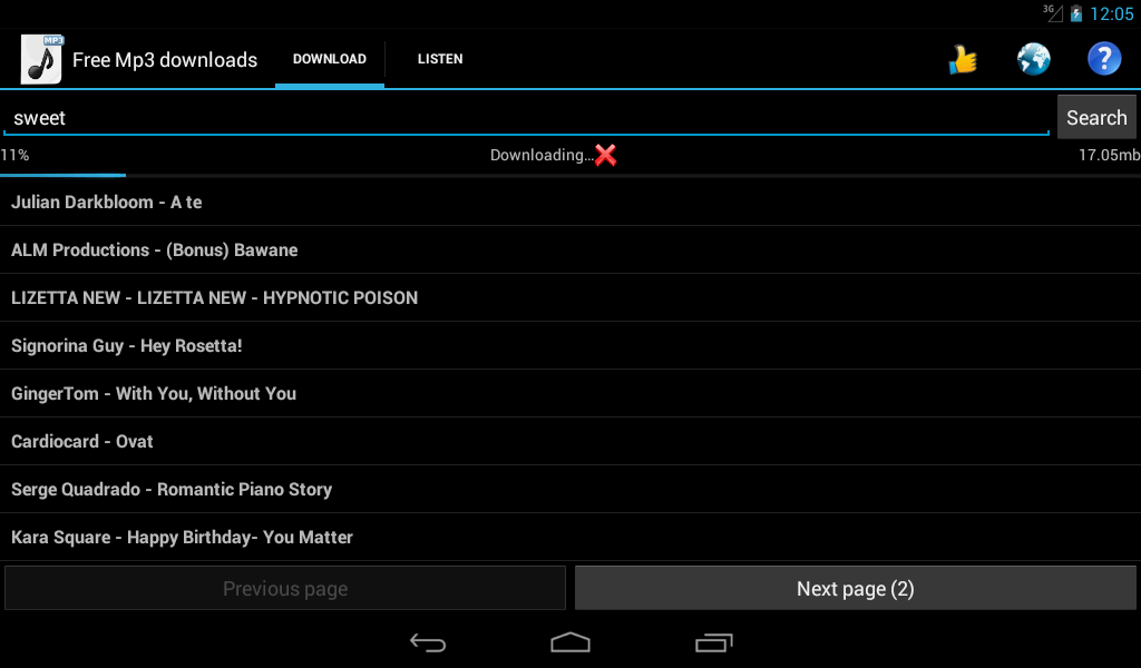 application mp3 music download android