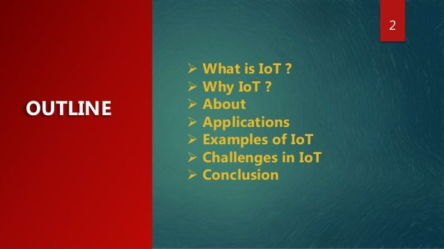internet of things applications ppt