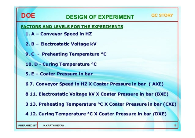 application of experimental design in agriculture