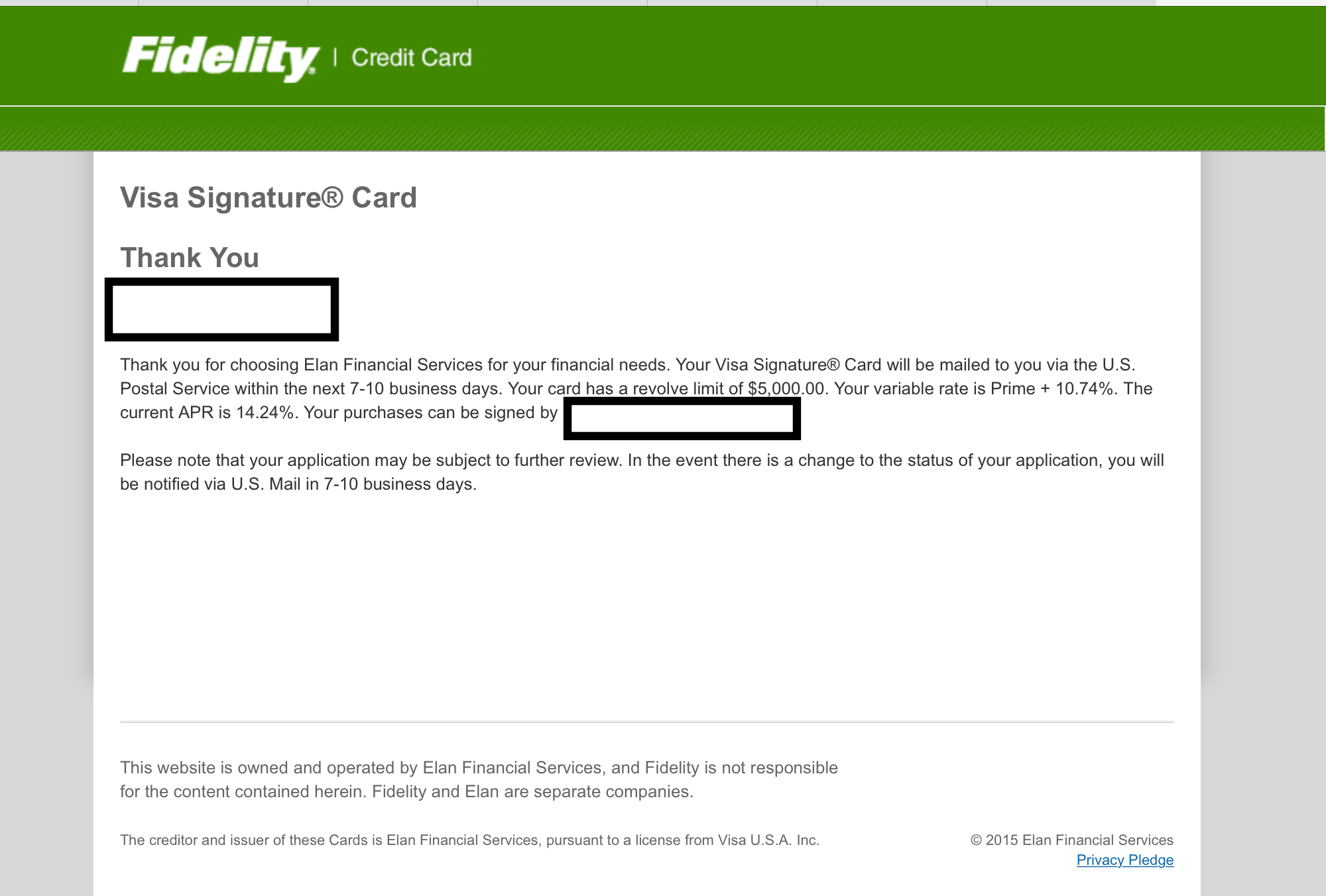 credit cards instant approval applications