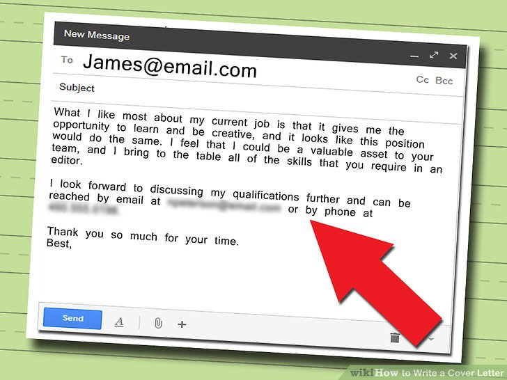 how to write an email to send job application