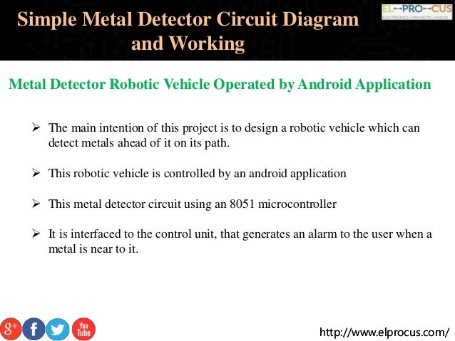 metal detector robotic vehicle operated by android application