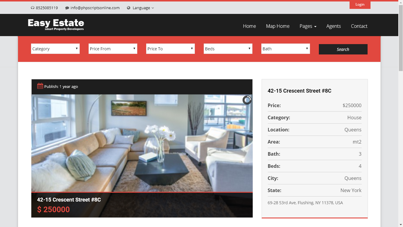 real estate web application php